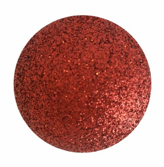 Bauble glitter red.