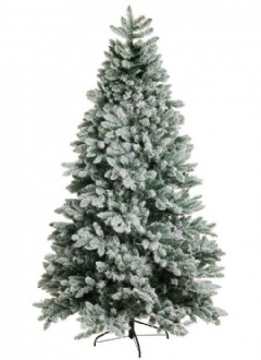 Christmas Tree, green with snowy flock effect. Deluxe commercial grade.  Suitable for indoor use.