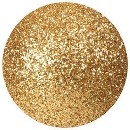 Bauble glitter gold.