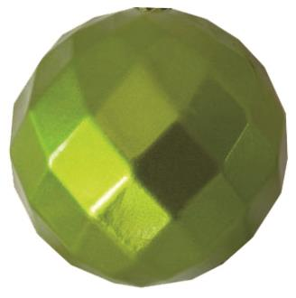 Bauble diamond faceted, candy apple lime. 100mm