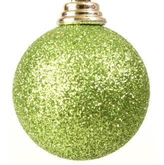 Bauble glitter lime green.